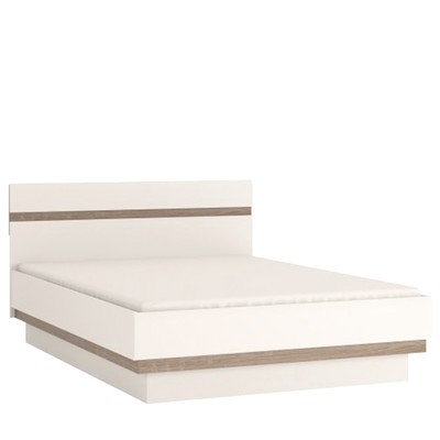 Chelsea White & Truffle Oak Trim Bed