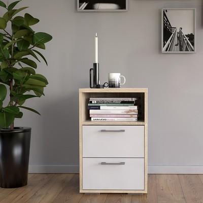 Homeline 2 Drawers Bedside Table