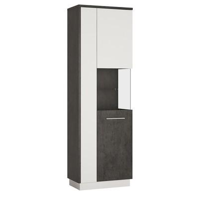 Zingaro Slate Grey & White Tall Display Cabinet