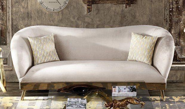 Stylish Grey 2 Seater Fabric Sofa
