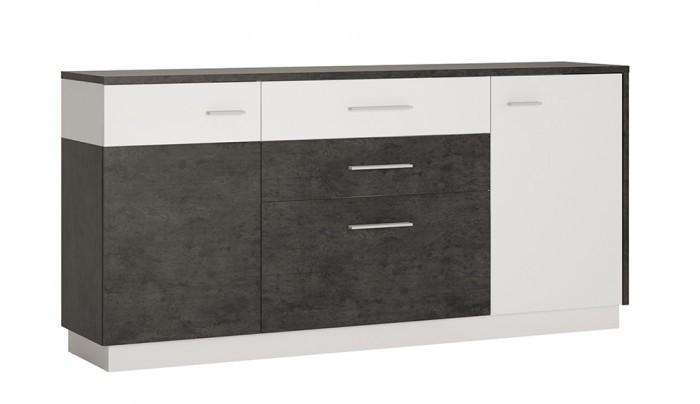 Zingaro Double Door Drawer Single Sideboard