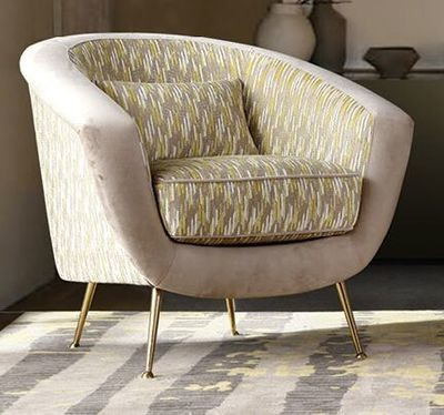 Grey Lux Chair with Cushion