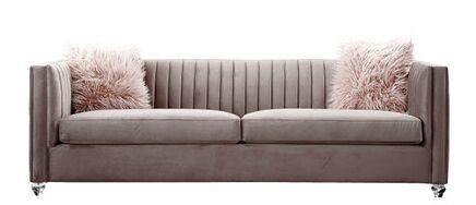 Pink Velvet 3 Seater Sofa