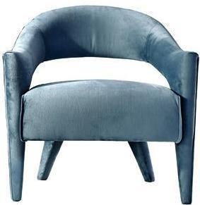 Tufted Teal Blue Velvet Armchair
