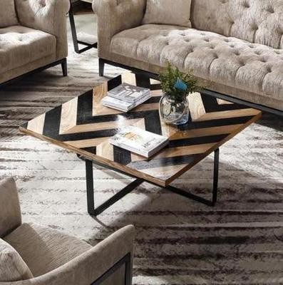 Harlow Black Wave Coffee Table