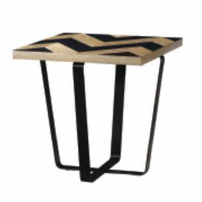 Harlow Black Wave End Lamp Table