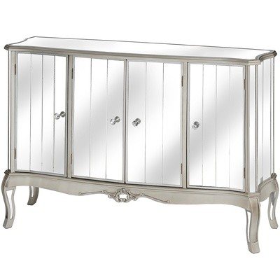 Argente Mirrored Sideboard With Four Drawer