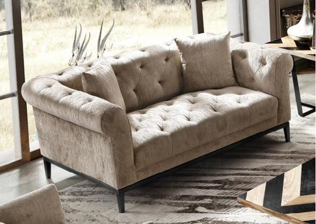 Harlow Tufted Two Seater Sofa