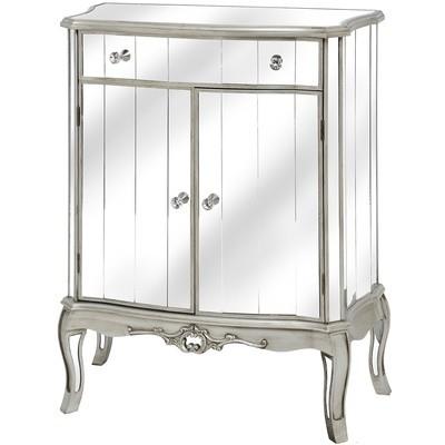 Argente Mirrored 1 Drawer 2 Door Cabinet