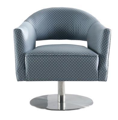 Grey Circle Stitch Swivel Chair
