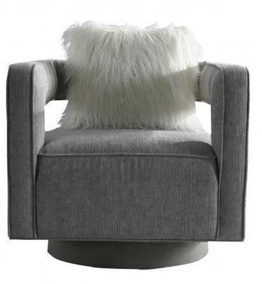 Stylish Grey Sofa Chair with Cushion