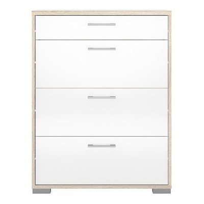 Homeline Oak with White 4 Drawers Chest