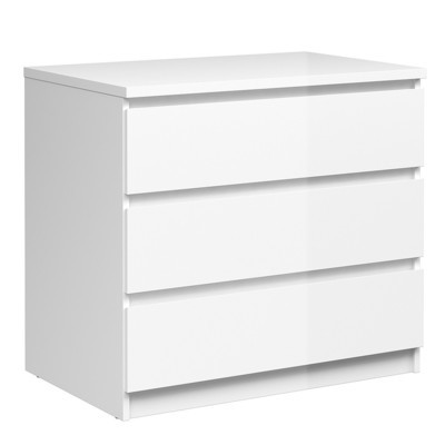 Naia White Chest of 3 Drawers