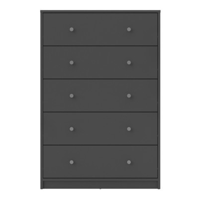 May Grey 5 Drawer Chest