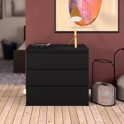 Naia Black Chest of 3 Drawers