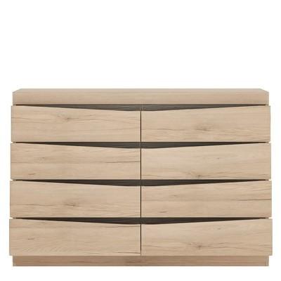 Kensington Oak 4 Plus 4 Wide Chest of Drawers