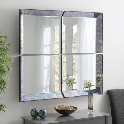 4 Panel Bevelled Wall Mirror