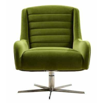 Modern Green Swivel Sofa Chair