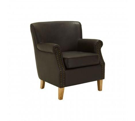 Modern Trinity Deep Brown Armchair