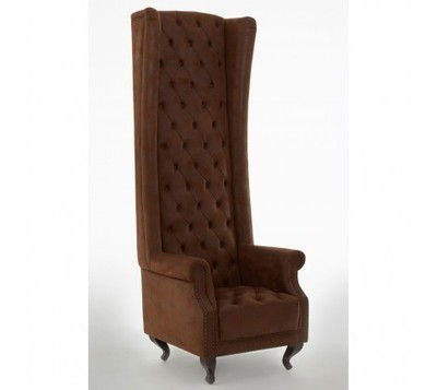 Regents Brown Tall Tufted Porter Chair