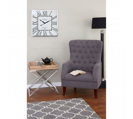 Mayfair Grey Linen Armchair