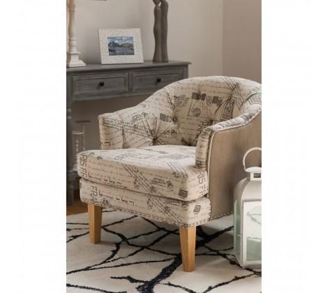 Lerwick Cream Accent Chair