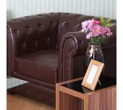 Antique Brown Chesterfield Sofa Chair