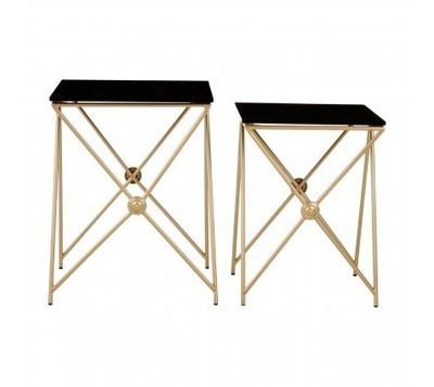 Monroe Gold End & Side Tables