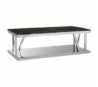 Ackley Black Marble Top Coffee Table