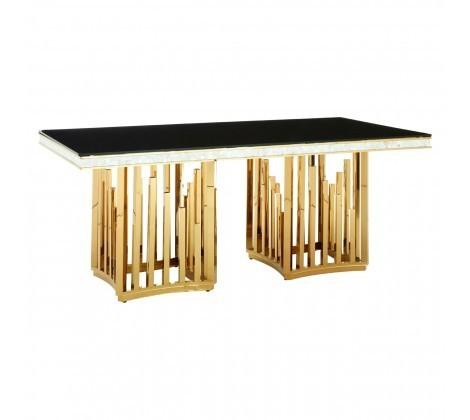 Eliza Gold & Black Dining Table