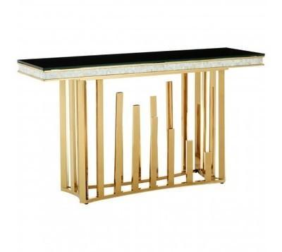 Eliza Gold & Black Console Table