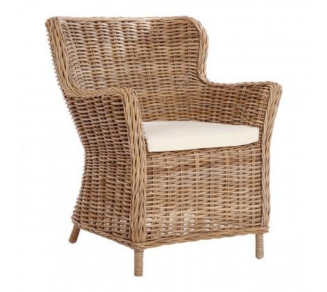Lovina Rattan Wingback Chair