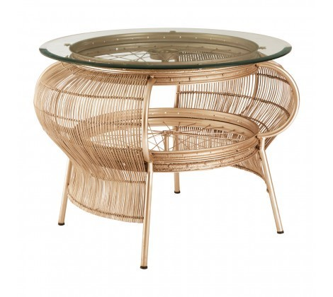 Mantis Round Bamboo Framed Coffee Table