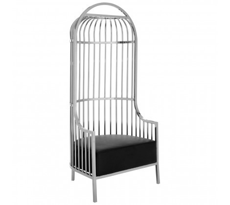 Unique Cage Style Eliza Silver Chair