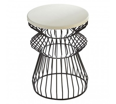Corina Black Curved Base Side Table