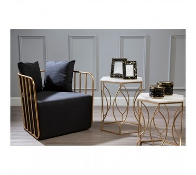 Marble Topped Set of 2 Avantis Side Tables
