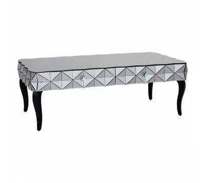 Soho Smoked Glass Top Silver Coffee Table