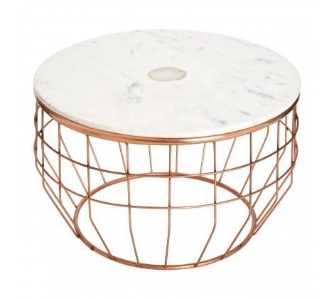 Vizzini Round White Marble Coffee Table