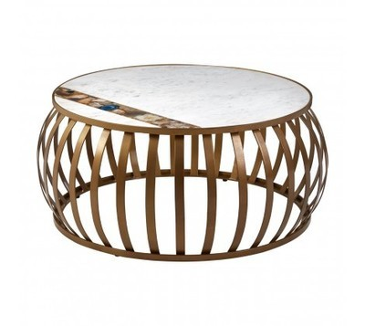 Vizzini Round Marble & Agate Coffee Table