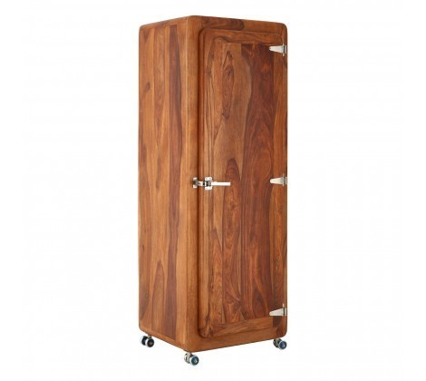 Marwar Brown Sheesham Wood Narrow Cabinet