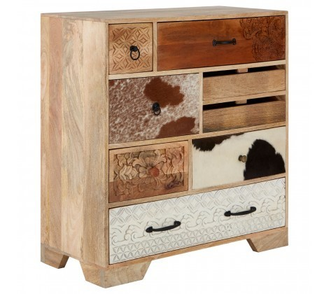 Marwar Mango Wood Multi Coloured Chest of Drawers