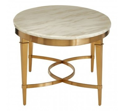 Alvaro Marble Top Oval Coffee Table