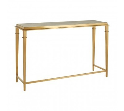 Alvaro Gold & White Rectangular Console Table