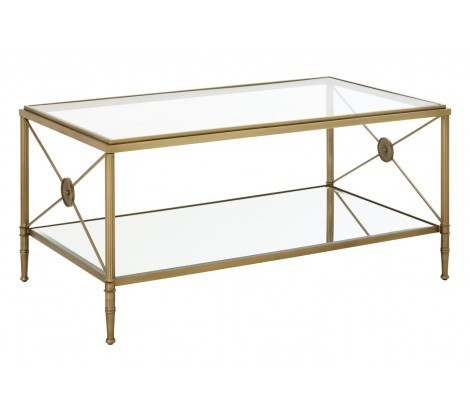 Axis Gold Metal Frame Coffee Table