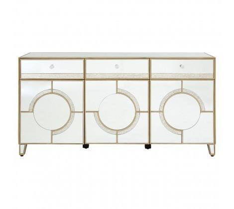Knightsbridge 3 Doors & Drawers Mirrored Cabinet