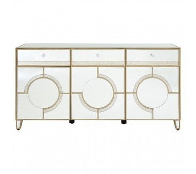 Knightsbridge 3 Doors & Drawers Mirrored Cabinet