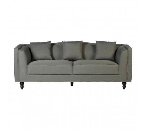 Modern Feya 3 Seater Grey Fabric Sofa