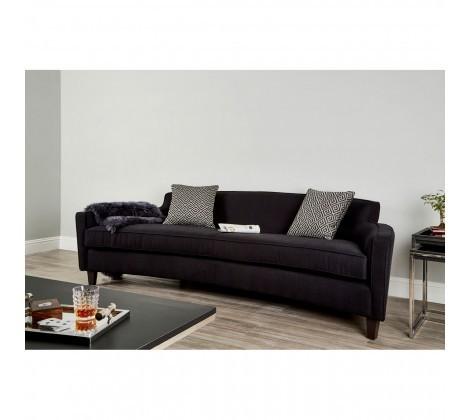 Rania Dimity Black Fabric 3 Seater Sofa