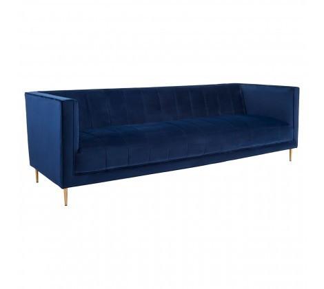 Otylia Deep Blue Velvet 3 Seater Sofa