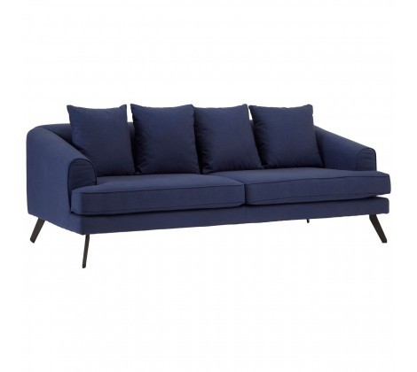Mylo 3 Seater Blue Upholstered Sofa